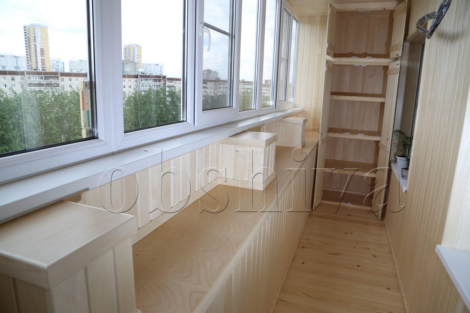 Ремонт на балконе своими руками фото варианты отделки 37